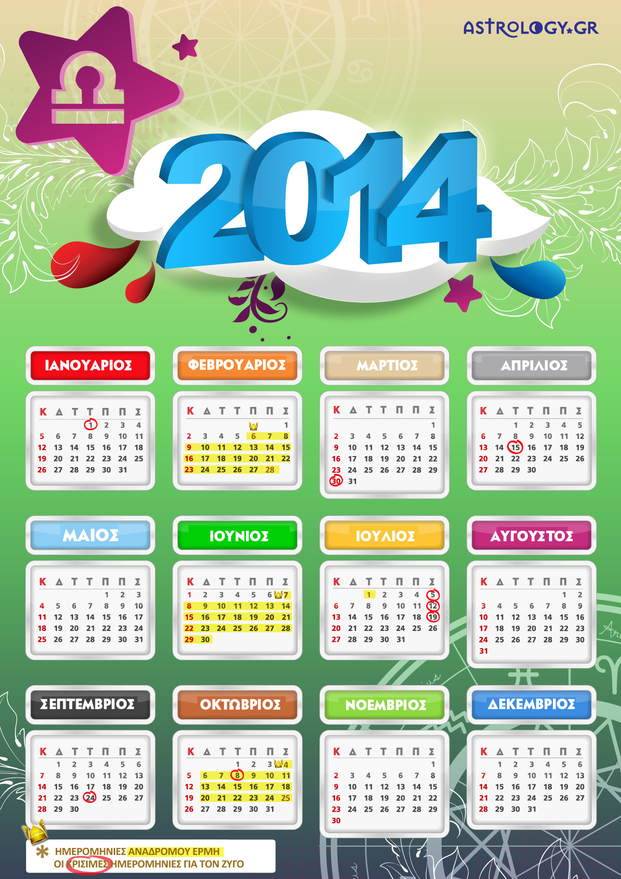 ZYGOS calendar14