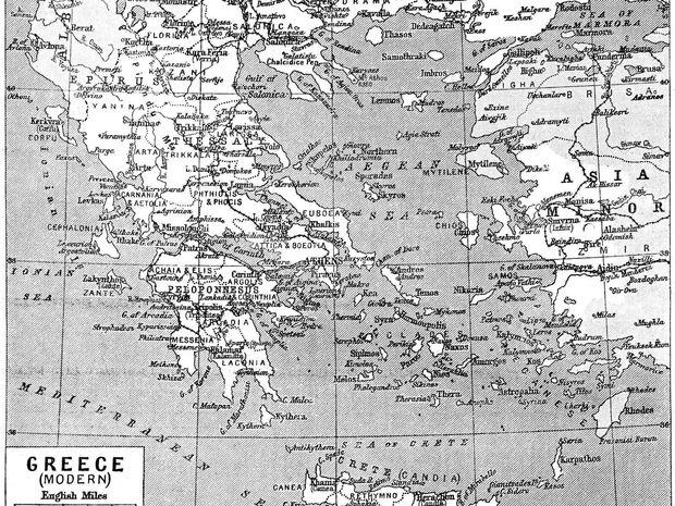 Η ελληνική ιστορία μέσα από τα μοτίβα του γενέθλιου χάρτη της
