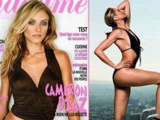 Cameron Diaz: Φωτογράφηση με μαγιό στο Madame Figaro