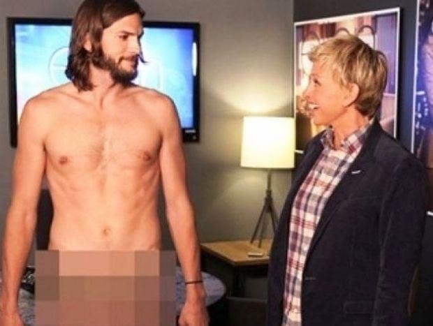 Ashton Kutcher: τα βγάζει όλα για την Elle DeGeneres
