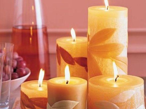 Κεριά για φθινοπωρινή ατμόσφαιρα