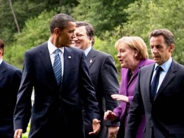 O Barack Obama σχολιάζει την εμφάνιση του Sarkozy