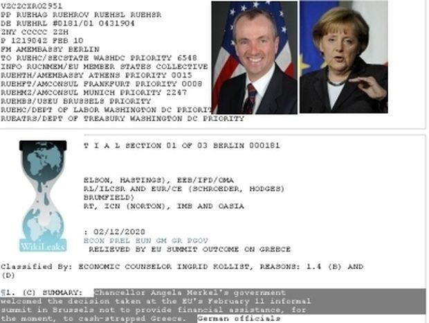 ΑΠΟΚΑΛΥΨΗ : Τα Wikileaks, η Ελλάδα, το ευρώ και η Μέρκελ!
