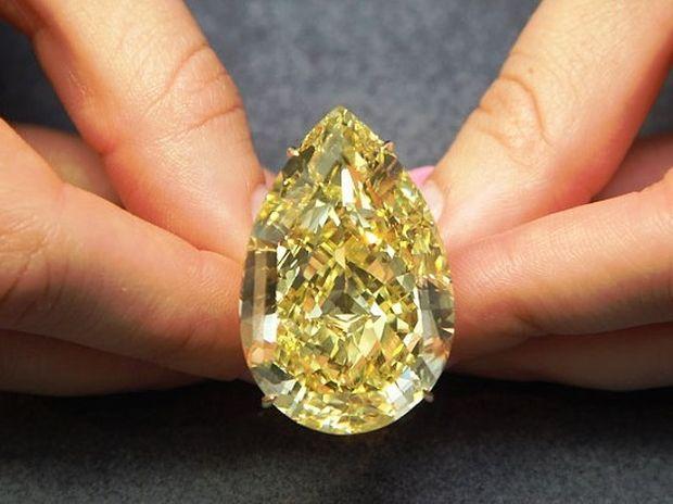 Το μεγαλύτερο κίτρινο διαμάντι του κόσμου βγαίνει στο σφυρί