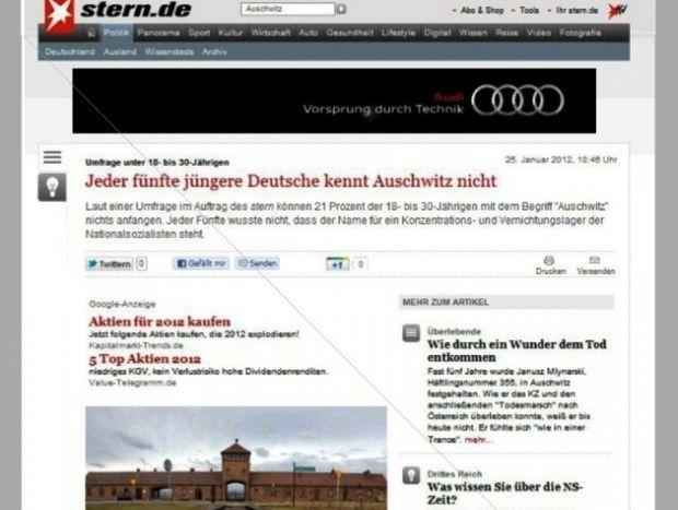 Stern: Ένας στους πέντε νέους στη Γερμανία δεν ξέρει τι είναι το Άουσβιτς!