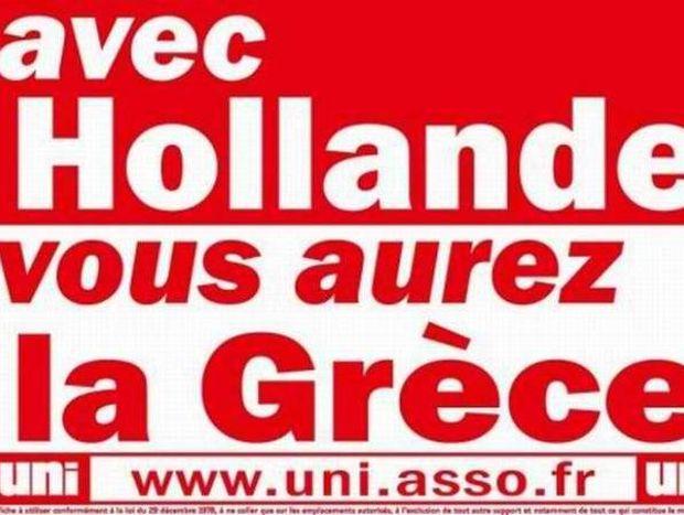 Προεκλογική γαλλική αφίσσα: «Με τον Ολάντ, θα γίνετε Ελλάδα»