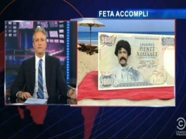 The Daily Show: Διάλογος με ένα πεντοχίλιαρο για τις ελληνικές εκλογές