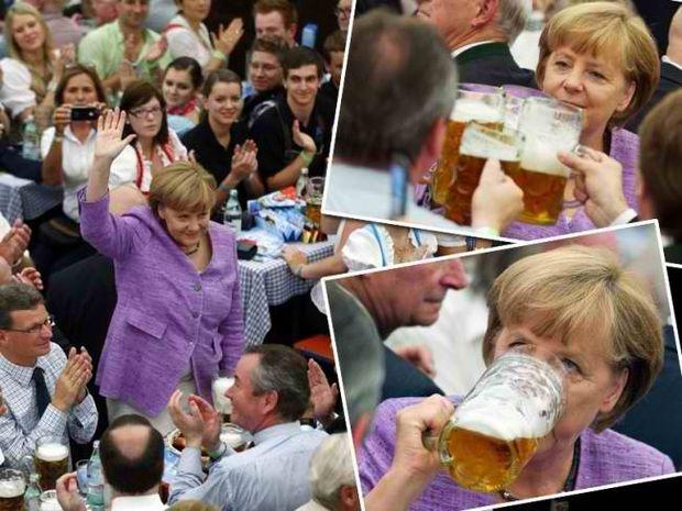 Α. Μέρκελ: Και πίνει μπύρες…
