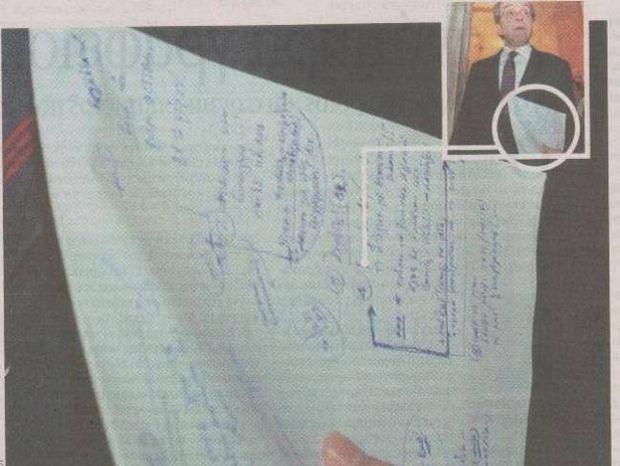 Τι έγραφε στο μπλοκάκι του ο Σαμαράς;