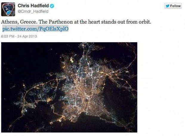 Η φώτο που σαρώνει στο Διαδίκτυο: Η Αθήνα από το διάστημα!