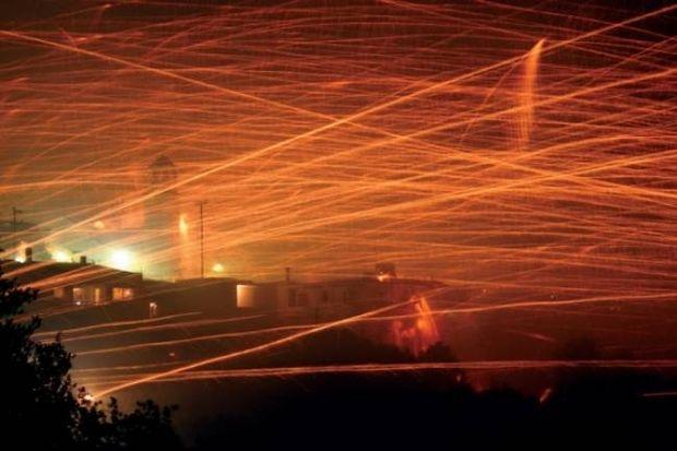 Ρουκετοπόλεμος στη Χίο: Άψογη οργάνωση - Εντυπωσιακό αποτέλεσμα