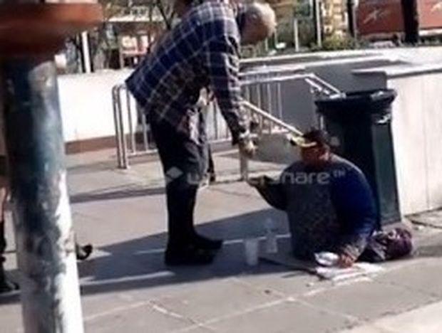 ΑΠΙΣΤΕΥΤΟ VIDEO: Ανάπηρος αλλοδαπός ζητιάνος έβγαλε πόδια και περπάτησε!
