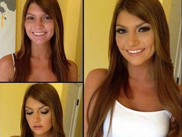 Απίστευτες μεταμορφώσεις: Πορνοστάρ πριν και μετά το μακιγιάζ