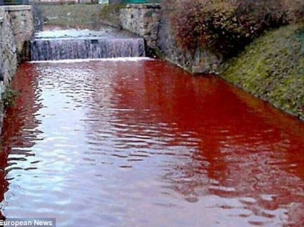 Έπαθαν ΣΟΚ όταν ξύπνησαν και αντίκρυσαν το... ματωμένο ποτάμι (pics)