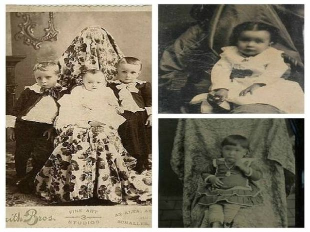Γονείς... φαντάσματα με τα μωρά τους σε παλιές φωτογραφίες!