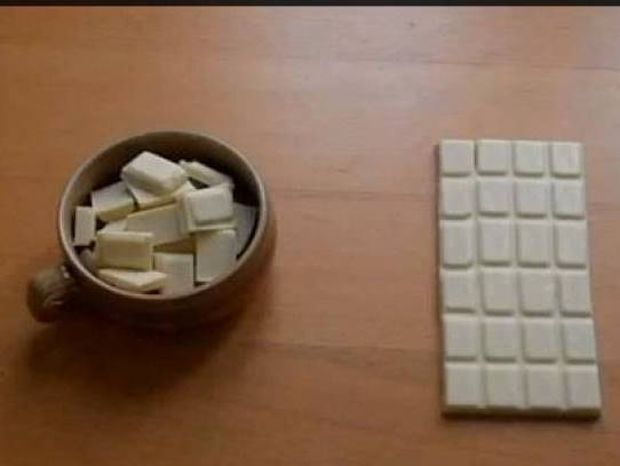 Πώς μπορείτε να κλέψετε ένα κομμάτι σοκολάτας χωρίς να γίνει αντιληπτό