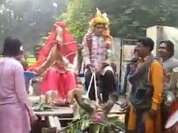 ΑΠΙΘΑΝΟ: Είδε τη νύφη και το έβαλε στα πόδια ! (vid)