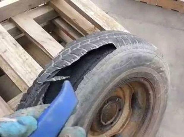 Βίντεο 12 δευτερολέπτων δείχνει γιατί δεν πρέπει να κόψετε ποτέ λάστιχο με κοπίδι