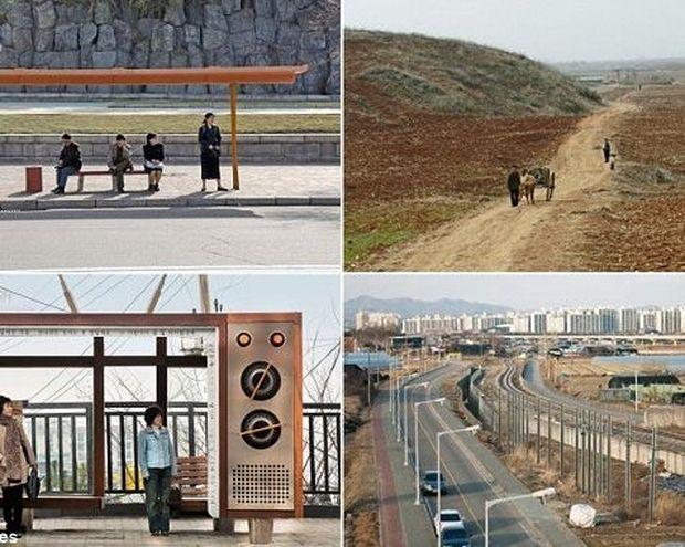 Φωτογραφίες που δείχνουν τις έντονες διαφορές μεταξύ Βόρειας και Νότιας Κορέας