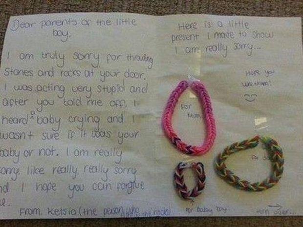 Αυτή είναι η πιο γλυκιά συγγνώμη που έχετε δει ποτέ - Δείτε τι έγραψε ένα μικρό κοριτσάκι!
