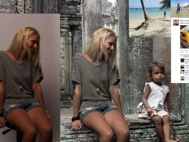 Κορόιδεψε τους πάντες ότι πήγε διακοπές, κάνοντας Photoshop τον εαυτό της! (pics+video)