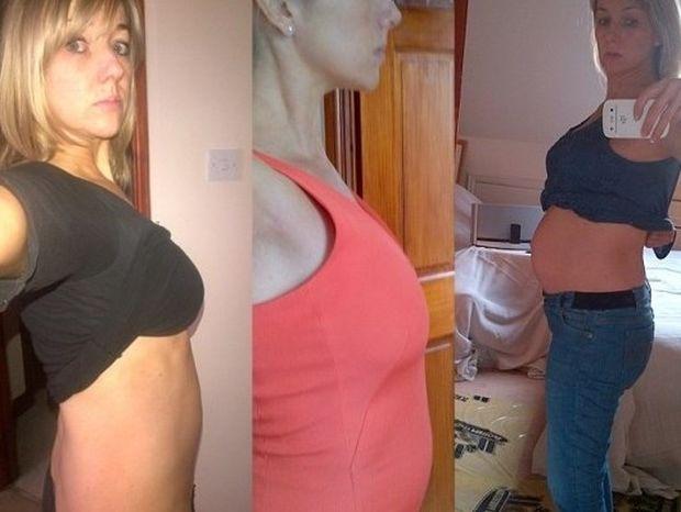 Έγκυος μέχρι τον 6o μήνα... είχε κοιλιά πλάκα! (pics)
