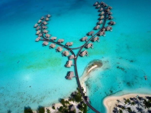 Ο παράδεισος της Πολυνησίας από ψηλά