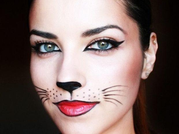 5 αποκριάτικες ιδέες μακιγιάζ μόνο με eyeliner