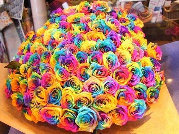 Κόβει σε φέτες ένα τριαντάφυλλο για να δημιουργήσει κάτι πολύ ρομαντικό