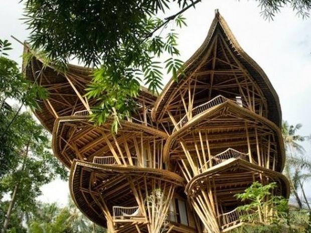 Πανέμορφα σπίτια που κατασκευάζονται από μπαμπού! (εικόνες)