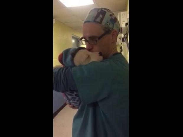 Το φοβισμένο κουτάβι έκλαιγε ασταμάτητα από τον πόνο. Η αντίδραση του γιατρού θα σας συγκινήσει! (video)