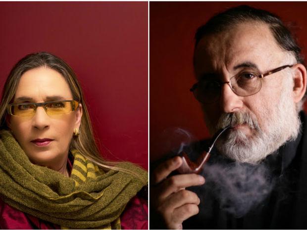Η Λίνα Νικολακοπούλου και ο Θάνος Μικρούτσικος στο Cafe του Ιανού