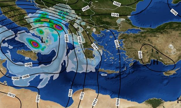 Καιρός Τώρα: Η «Ευρυδίκη» κύκλωσε την Αττική - Καταιγίδες μέχρι την Παρασκευή