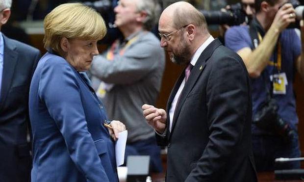 Γερμανία: Στο τραπέζι Μέρκελ - Σουλτς - Αρχίζουν οι διαπραγματεύσεις για το σχηματισμό κυβέρνησης