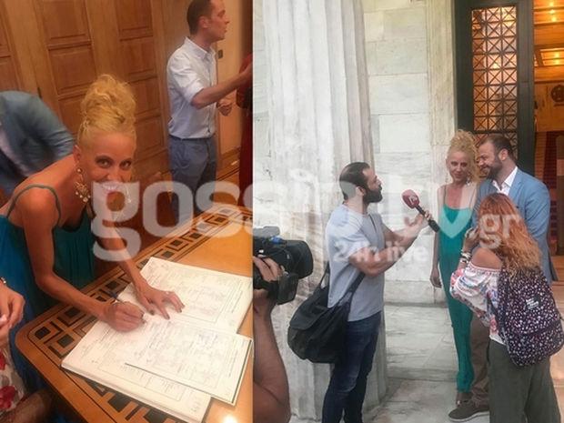 Παντρεύτηκε ο Ορέστης Τζιόβας - Τα πρώτα πλάνα και οι δηλώσεις από τον γάμο του στο Δημαρχείο Αθηνών