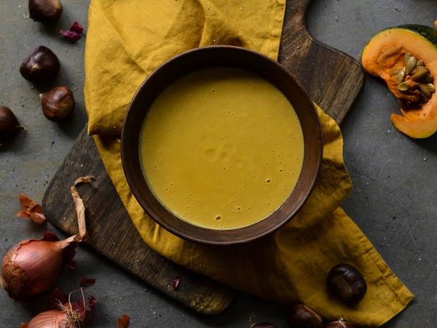 Βελουτέ σούπα με κάστανα και κολοκύθα